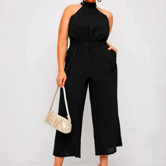 SHEIN curve black high neck jumpsuit!